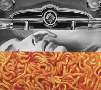 'I Love You With My Ford' (1961) by James Rosenquist