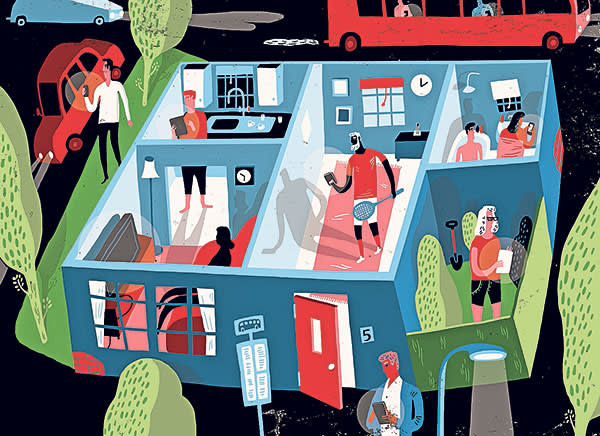 digital marketing illustration by Oivind Hovland for April 2015 The Connected Business special report