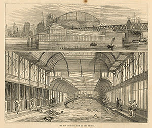 Baths at Charing Cross Bridge, 1875