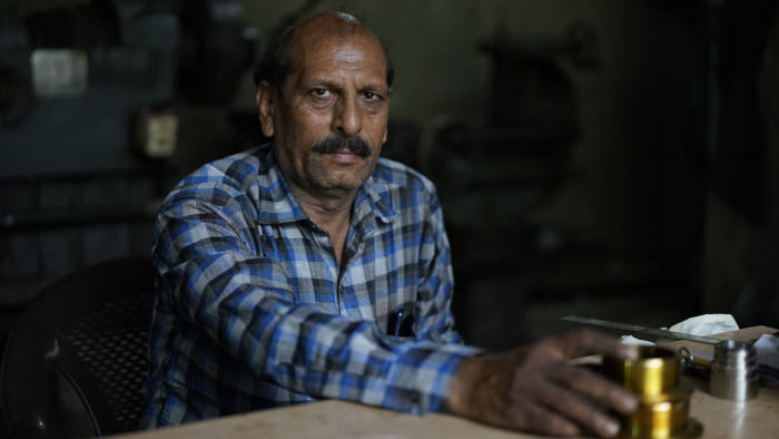 Rajaram Yadav, a machinist, is worried about his business