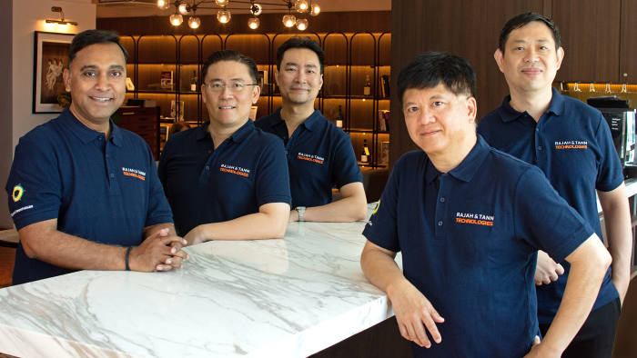 Rajah & Tann Technologies - Rajesh Sreenivasan Director, followed by Steve Tan who is a fellow Director, then Michael Lew, our COO then in the front from the left it's Ong Ba Sou our CTO and Wong Onn Chee our Technical Director.