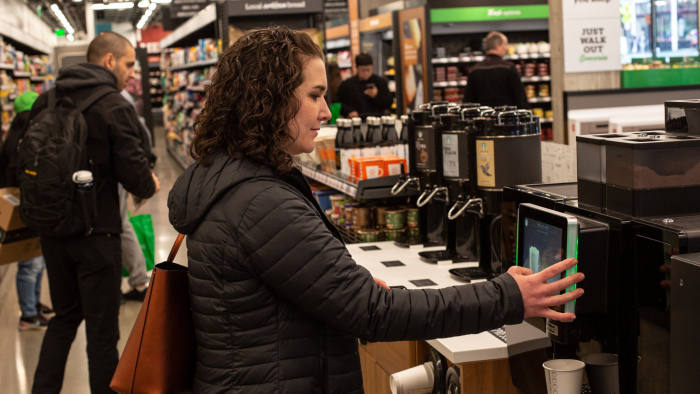 An Amazon Go store in Seattle. By selling its cashier-less shopping technology, Amazon is able to collect more data on consumer habits beyond its own stores