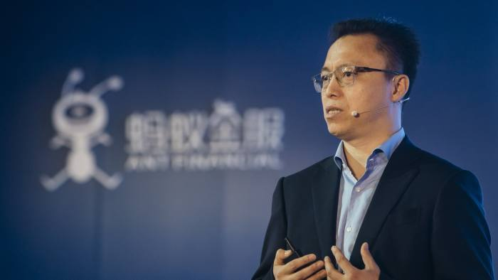 Eric Jing, chief executive officer of Zhejiang Ant Small & Micro Financial Services Group Co., gestures as he speaks during a news conference in Hong Kong, China, on Tuesday, Nov. 1, 2016. Ant Financial Services Group, Alibaba Group Holding Ltd.'s financial affiliate, is counting on partners outside China to bring its model of online finance and local services to emerging Asian markets. Photographer: Anthony Kwan/Bloomberg