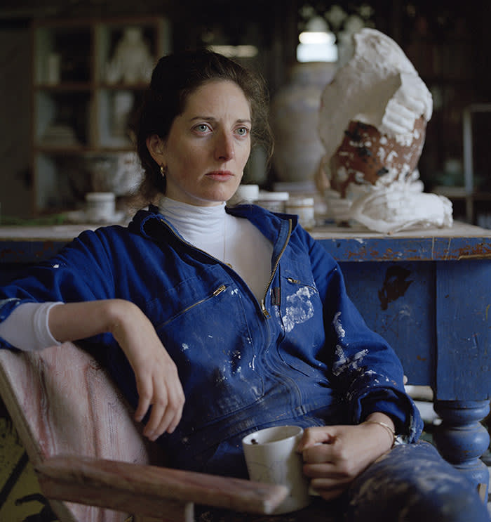 Clementine Keith-Roach in her studio photographed for the FT by Sadie Catt