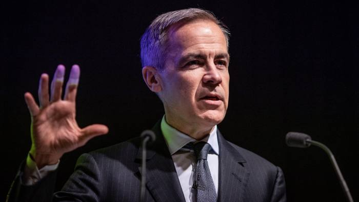11/02/19 Barbican, London Governor of the Bank of England, Mark Carney, speaks at an FT event at the Barbican in London this afternoon.
