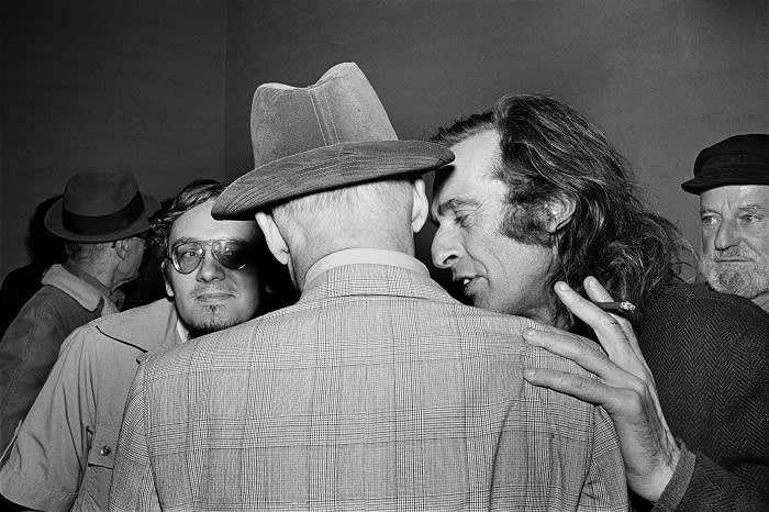 William Burroughs and Jack Hirschman, 1978