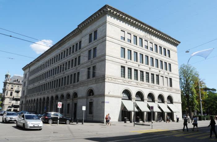 WA6D31 Zurich City: The Swiss National Bank Building at Burkliplatz