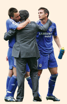 The 'Special One' in 2007 with John Terry (left) and Frank Lampard