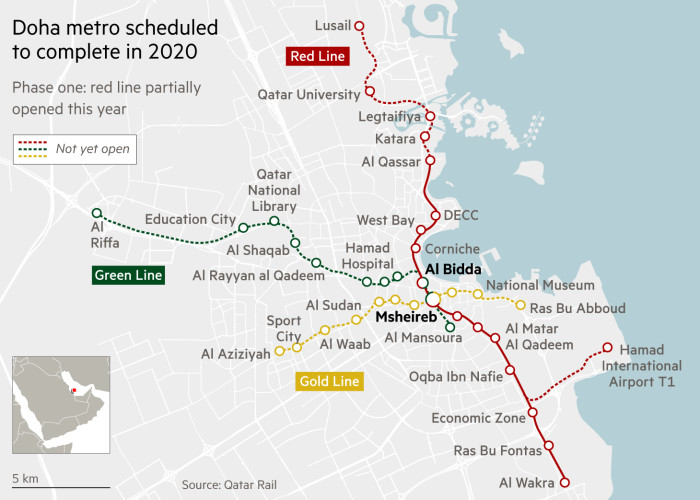 Map of Doha metro system