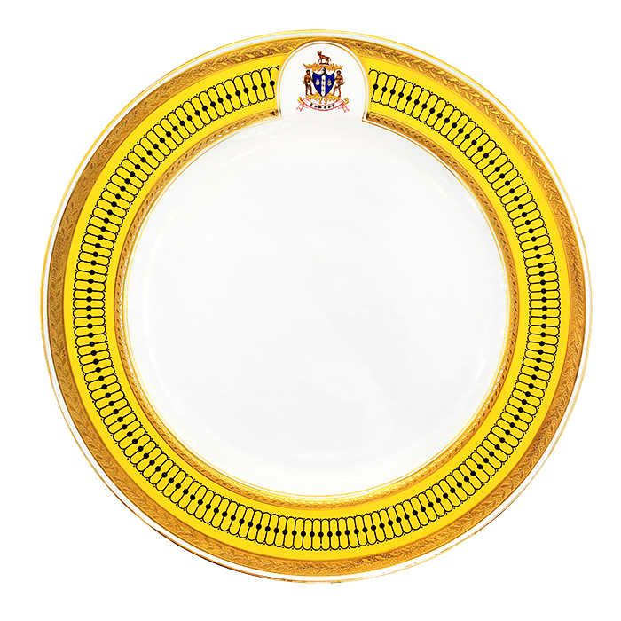 Plate commissioned for the Maharaja of Rajpipla