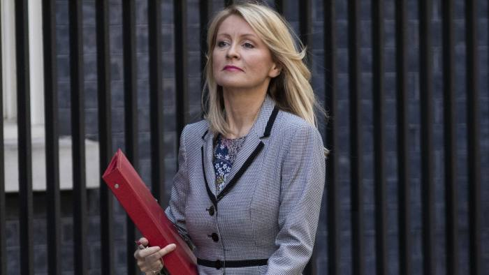 LONDON, ENGLAND - JULY 03: Work and Pensions Secretary Esther McVey arrives at Downing Street ahead of the weekly cabinet meeting on July 3, 2018 in London, England. (Photo by Dan Kitwood/Getty Images)
