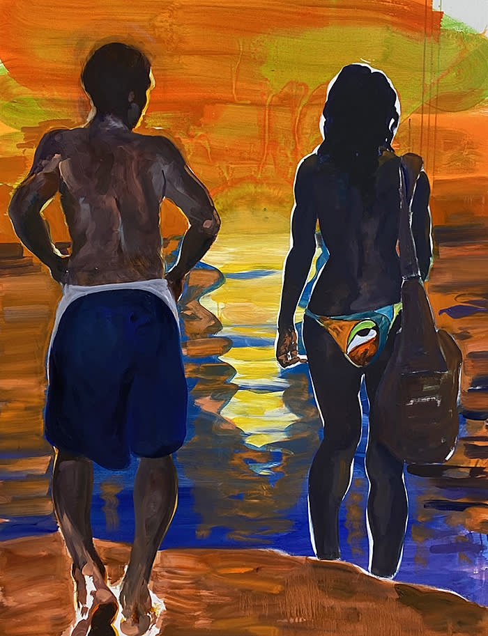 Eric Fischl Toward Days End: Looking Back 2020 oil and acrylic on linen 65 x 50 inches 165.1 x 127 cm signed, dated and titled Eric Fishl, 2019 Toward Days End: Looking Back (verso) (Inv #7802) Courtesy of artist and Skarstedt gallery