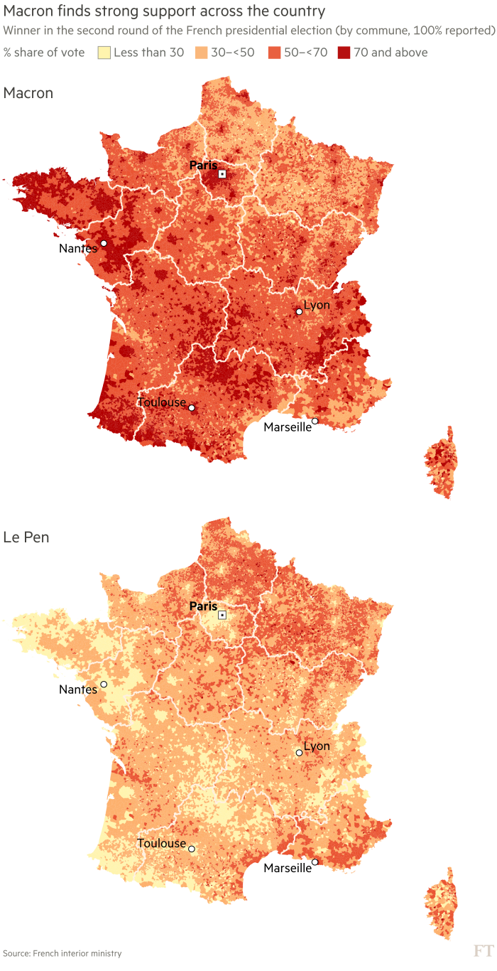 French presidential election margin of victory
