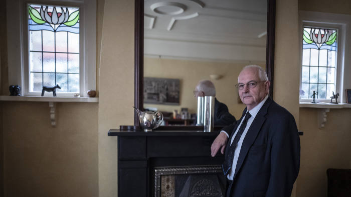 19/11/2018 Picture by Charlie Bibby/Financial Times FT Columnist, Martin Wolf, photographed at home for the seasonal appeal.