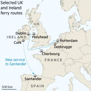Map Of Uk Ferry Routes.Shipping Groups Boost Ireland Eu Routes Ahead Of Brexit Financial
