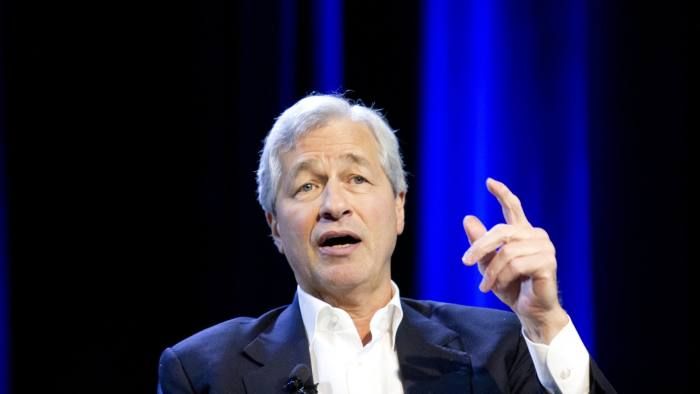 Jamie Dimon, chief executive officer of JPMorgan Chase & Co., speaks during a Bloomberg Businessweek event in Detroit, Michigan, U.S., on Thursday, Dec. 15, 2016. Dimon discussed President-elect Donald Trump's nomination of prominent Wall Street figures for cabinet positions. Photographer: Laura McDermott/Bloomberg