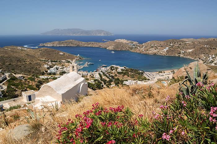 The marina on the island of Ios