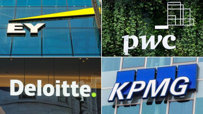 Big Four accounting firms - EY, PwC, KPMG, Deloitte