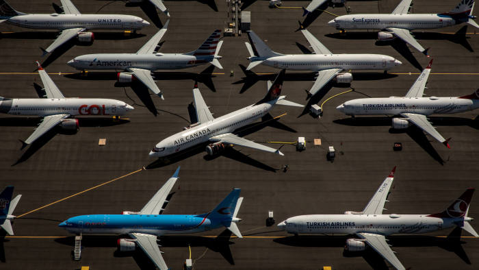 Editorial use only Mandatory Credit: Photo by GARY HE/EPA-EFE/Shutterstock (10343248l) Boeing 737 Max 8 aircraft sit parked at Boeing Field in Seattle, Washington, USA, 21 July 2019. The Boeing 737 Max 8 was grounded by aviation regulators and airlines around the world in March 2019 after 346 people were killed in two crashes. Boeing 737 Max grounded in Washington, Seattle, USA - 21 Jul 2019