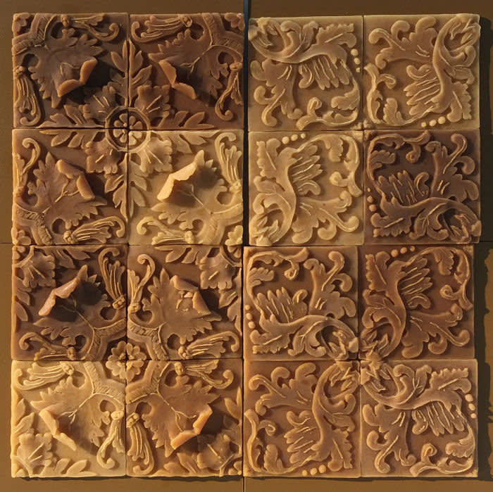 Penelope Stewart's beeswax tiles