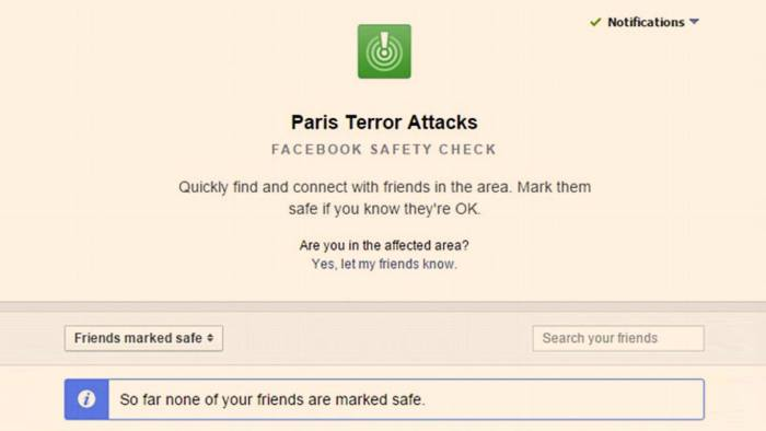 Facebook's safety alert system