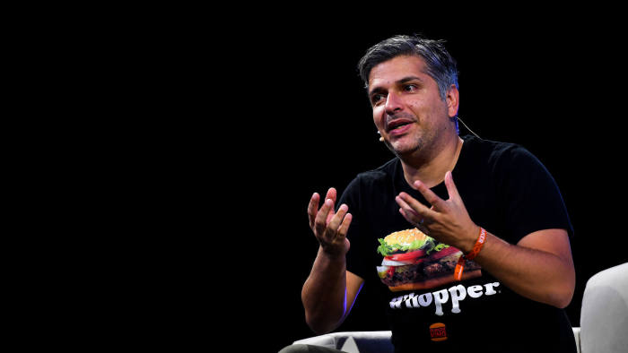 LISBON , PORTUGAL - 7 November 2019; Fernando Machado, CMO, Burger King, on ContentMakers Stage during the final day of Web Summit 2019 at the Altice Arena in Lisbon, Portugal. (Photo By Piaras Ó Mídheach/Sportsfile for Web Summit via Getty Images)