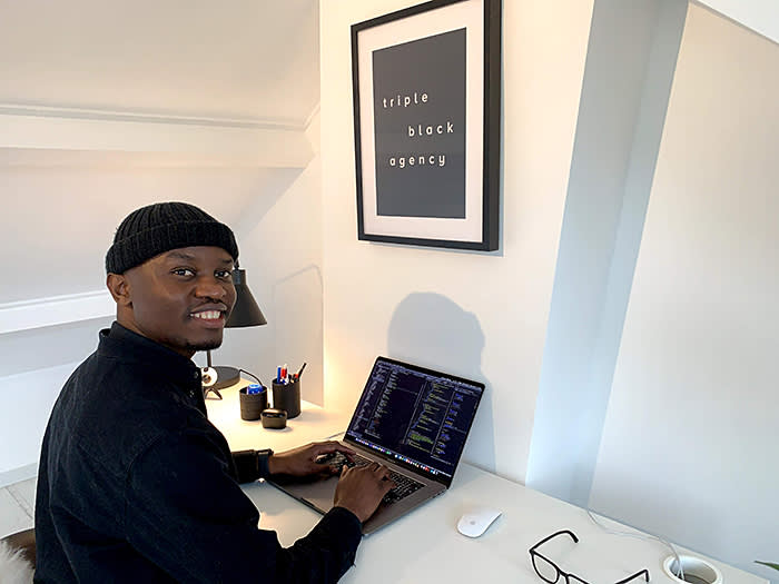 Babusi Nyoni, a developer and designer, says his ability to use tech to solve problems is borne of his upbringing in Zimbabwe