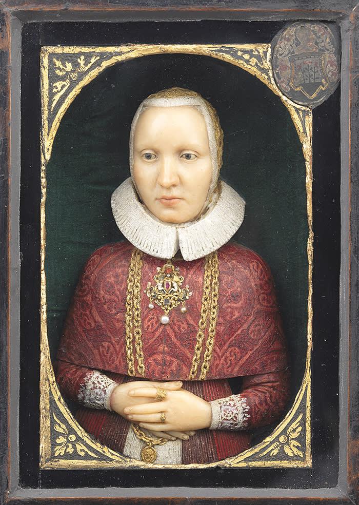 Wax portrait of a lady, German, early 17th century