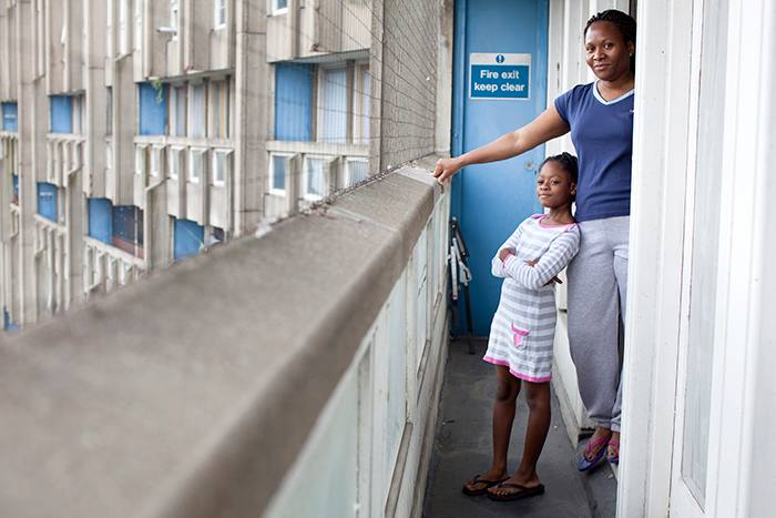 Del and her daughter Gaby, residents of Robin Hood Gardens
