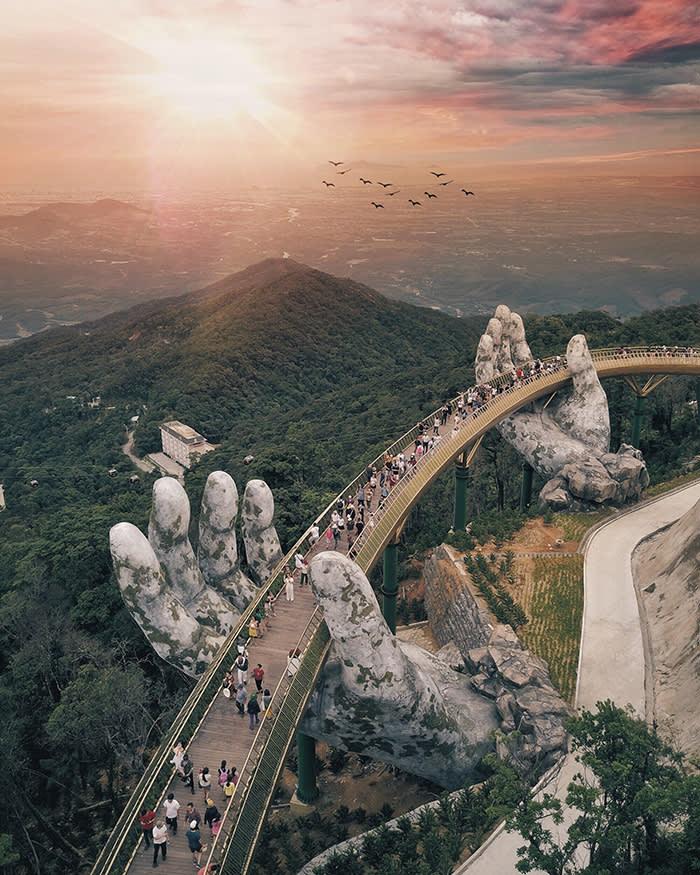 footbridge in Da Nang, Vietnam make sure to credit @smashpop/instagram