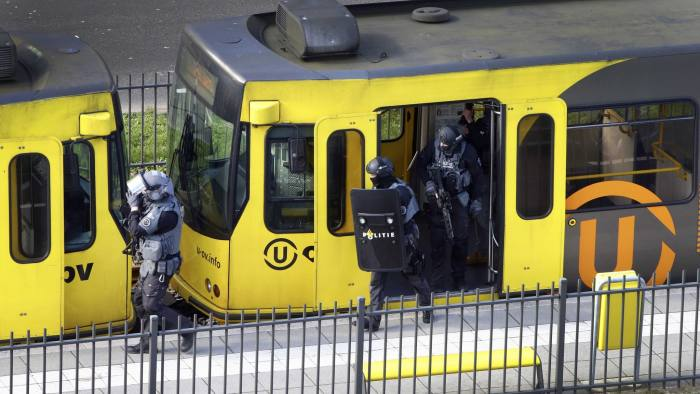 Image result for Suspect arrested after three killed in Utrecht tram shooting