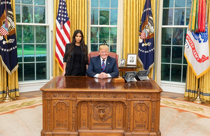 Kim Kardashian West met with President Donald Trump and other officials, including senior adviser Jared Kushner, at the White House on Wednesday 31st May 2018 to discuss prison reform.