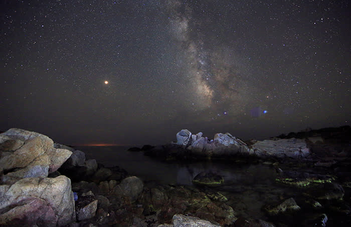 The Milky Way from a beach in the Sardinia island, Italy, July 9, 2018. REUTERS/Stefano Rellandini TPX IMAGES OF THE DAY - RC1AE2621E40