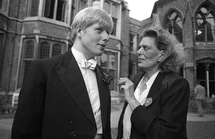 Being president of the Oxford Union was an opportunity to mix with influential figures – it was 'the first step to being prime minister', said Michael Heseltine. Here, Union president Boris Johnson with Greek culture minister Melina Mercouri in 1986.