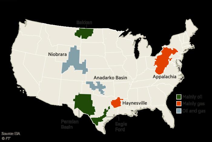 US shale map