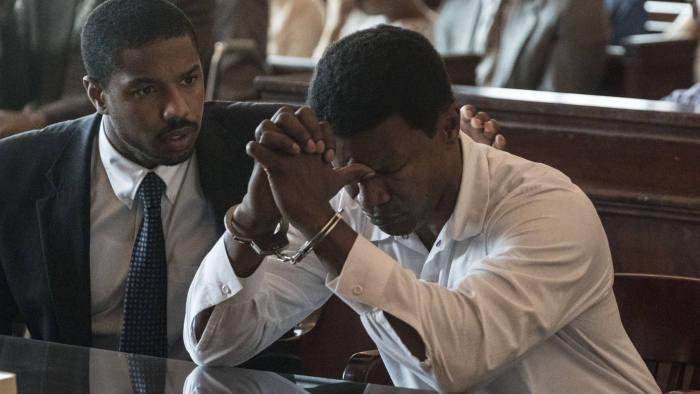 Michael B. Jordan, left, and Jamie Foxx in 'Just Mercy'