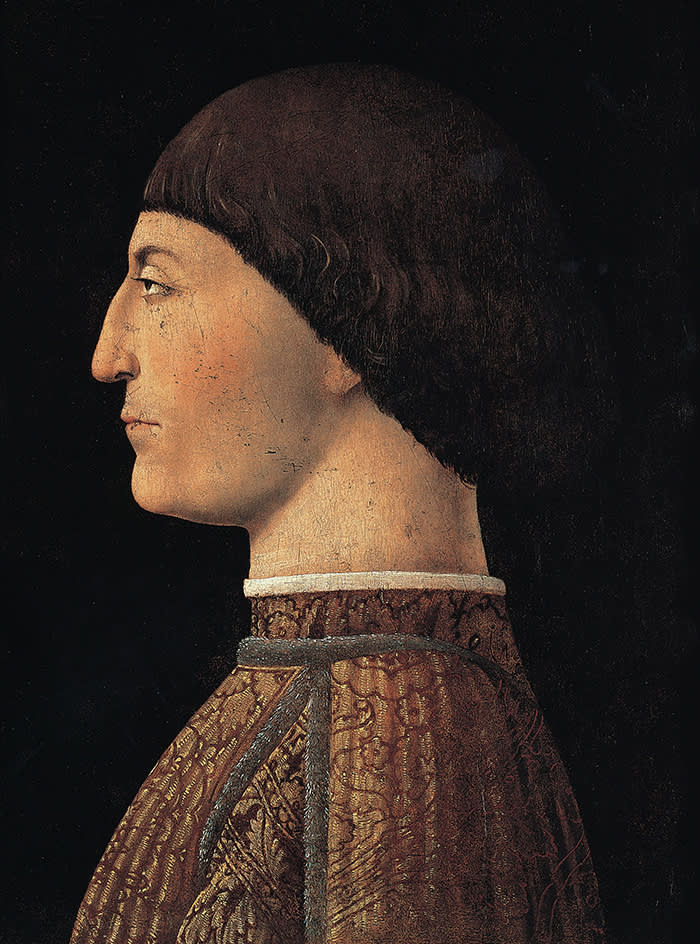 Piero della Francesca Portrait of Sigismondo Malatesta, 1451 c. Oil on canvas, 44,5x34,5 cm Paris, Musée du Louvre