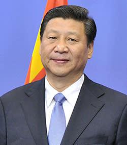 Xi Jinping at the EU headquarters in Brussels