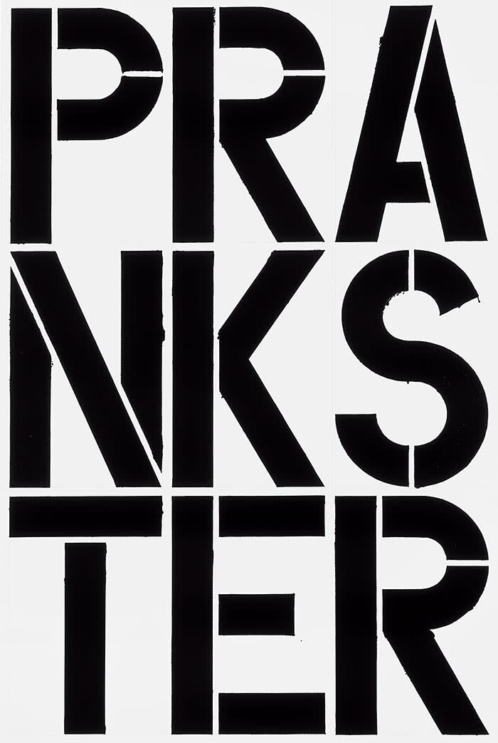 Christopher Wool Untitled, 1989 Enamel and acrylic on aluminum 96 x 64 in x 1 1/8 in (243.8cm x 162.6 cm x 2.9 cm)