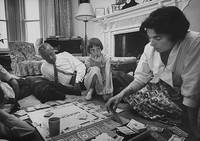 Lord Louis Mountbatten, with daughter and grandchildren playing monopoly. (Photo by Ralph Crane/The LIFE Picture Collection/Getty Images)