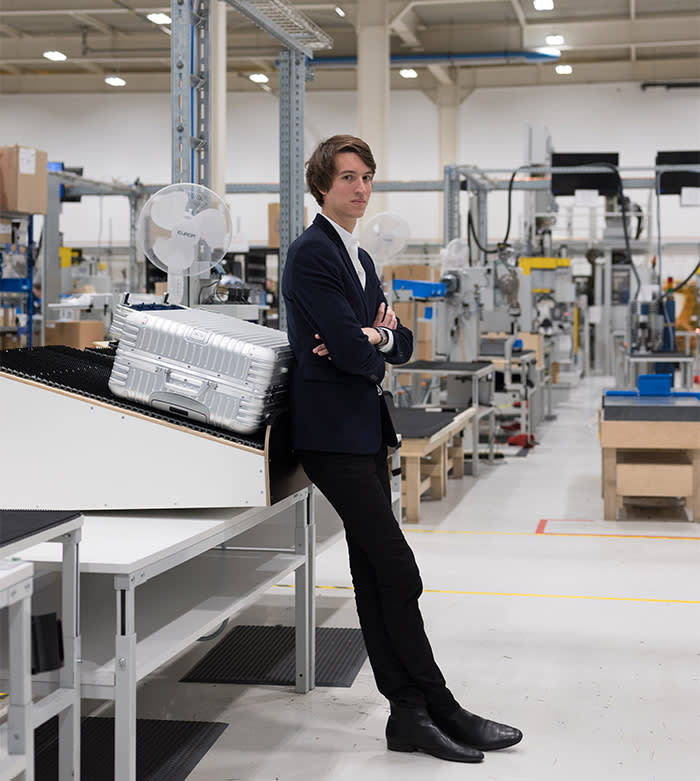 681a85564 Alexandre Arnault in the Rimowa factory in Germany © Albrecht Fuchs