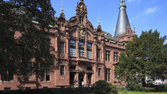 (GERMANY OUT) University of Heidelberg, University Library Heidelberg, renaissance, art nouveau, pluralism, Late historicism (Photo by Werner OTTO/ullstein bild via Getty Images)