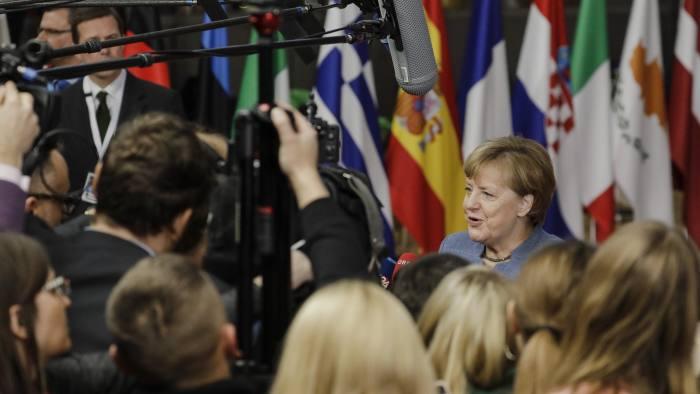 German Chancellor Angela Merkel arrives to the Eastern Partnership summit in Brussels, Belgium, 24 November 2017. Photo: Thierry Roge/BELGA/dpa