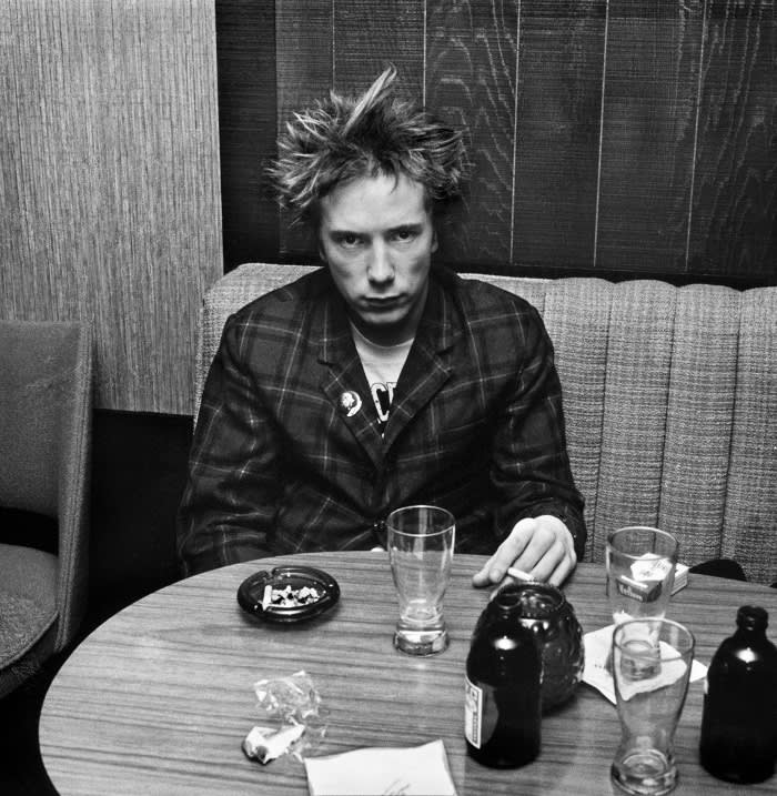 Johnny Rotten after the Sex Pistols' last-ever gig, 1978