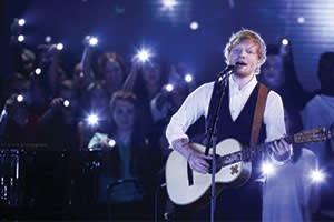 Ed Sheeran guesting on 'The X Factor', October 2014