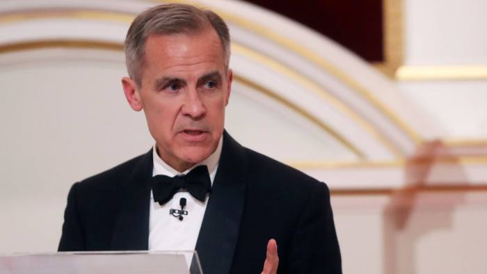 Governor of the Bank of England Mark Carney delivers a speech at the annual Mansion House dinner in London, Britain June 20, 2019. REUTERS/Simon Dawson/Pool