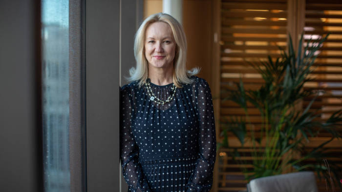 20/02/2020 Clare Woodman, Head of EMEA and CEO of Morgan Stanley & Co. International Photographed ij her office in Canary Wharf for Women in Business Special Report