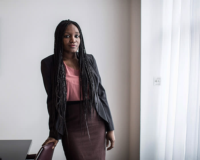 26/02/2018 Claudine Adeyemi, lawyer at Mishcon de Reya. For mentoring story in special reports.