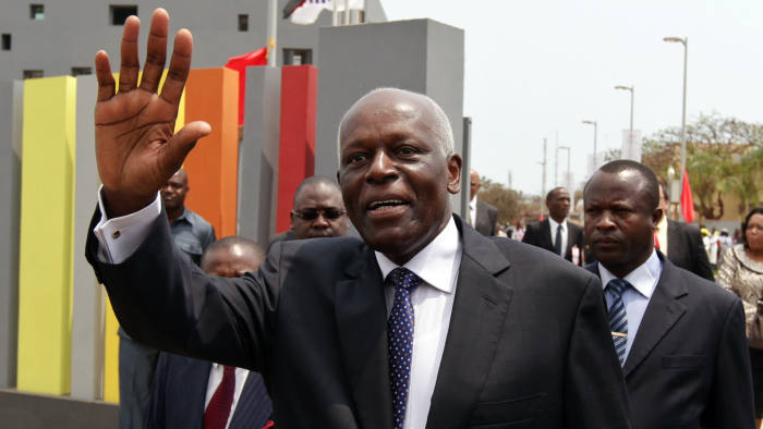 epa03372336 People's Movement for the Liberation of Angola - Labour Party (MPLA) presidential candidate, Jose Eduardo dos Santos, waves during the inauguration of the new mediatheque in Luanda, Angola, 28 August 2012. Angola will hold general elections on August 31, which will define the composition of parliament and the names of the President and Vice President of the Republic. EPA/PAULO NOVAIS