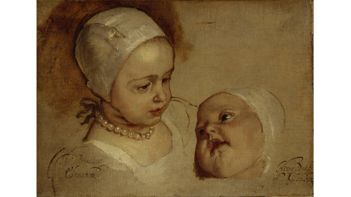 'The Princesses Elizabeth and Anne, Daughters of Charles I' (1637)
